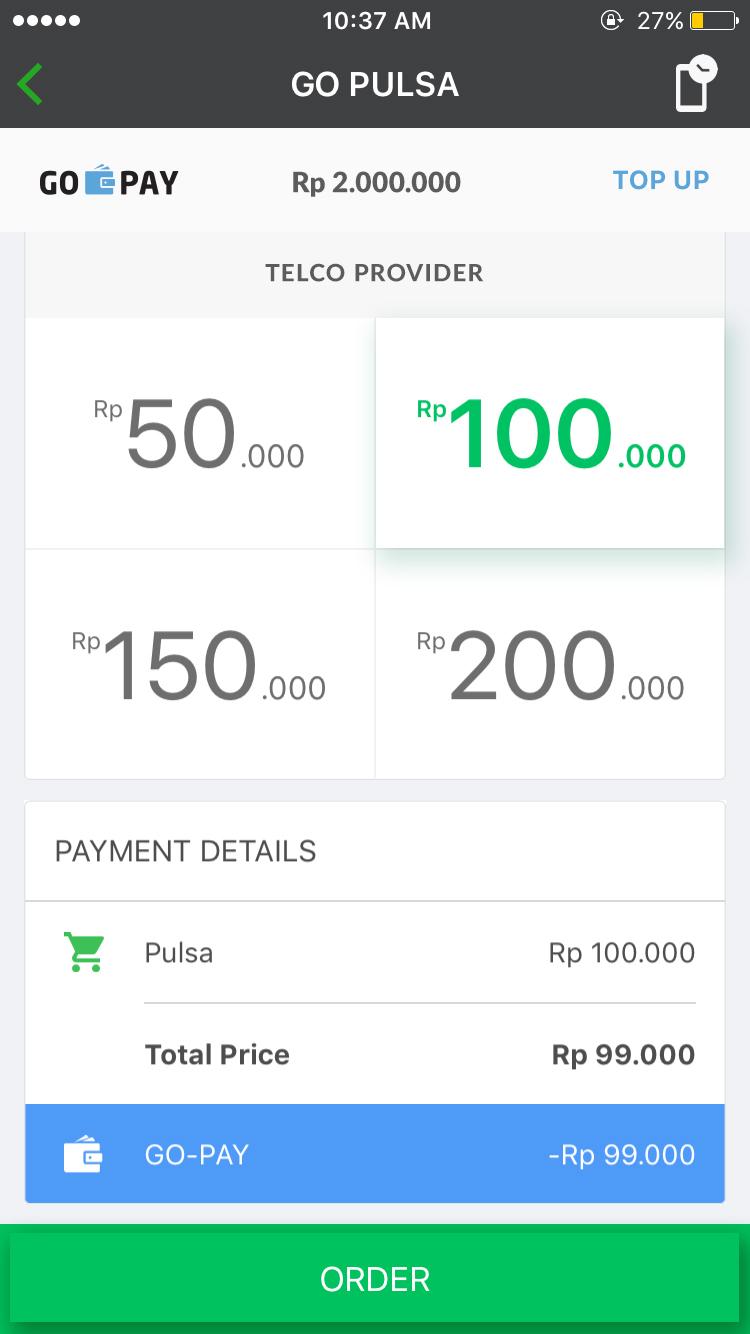 Go Pulsa Go Jek Indonesia